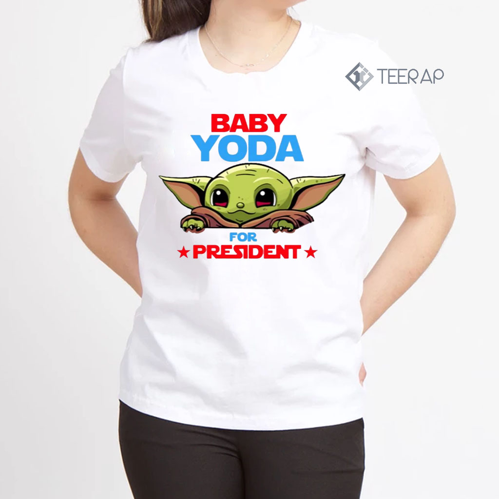 Baby Yoda for president shirts