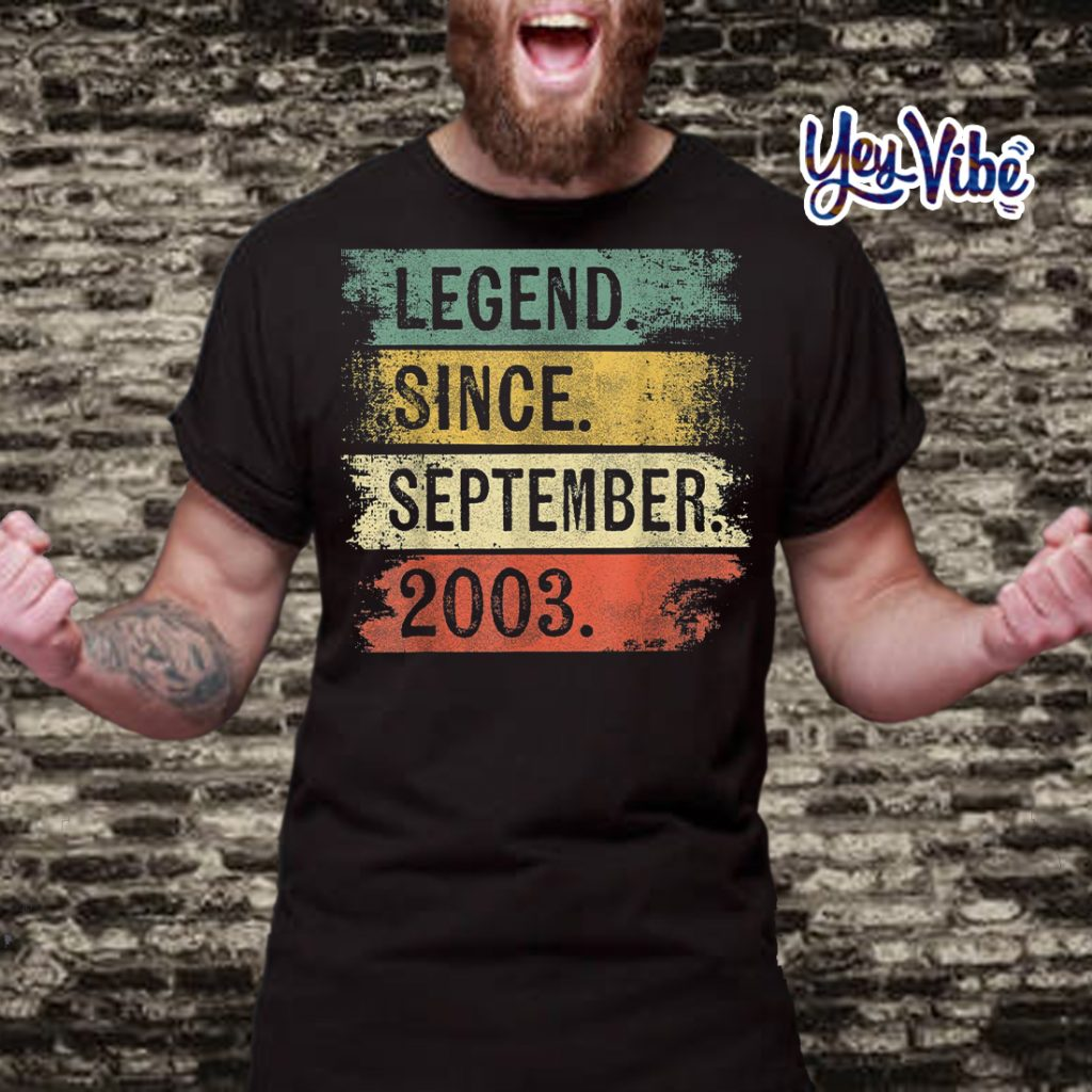 Legend Since September 2003 16th Birthday Gifts 16 Year Old Shirts