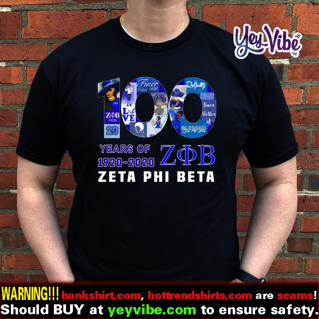 100 Years Of 1920 2020 Zeta Phi Beta T Shirts