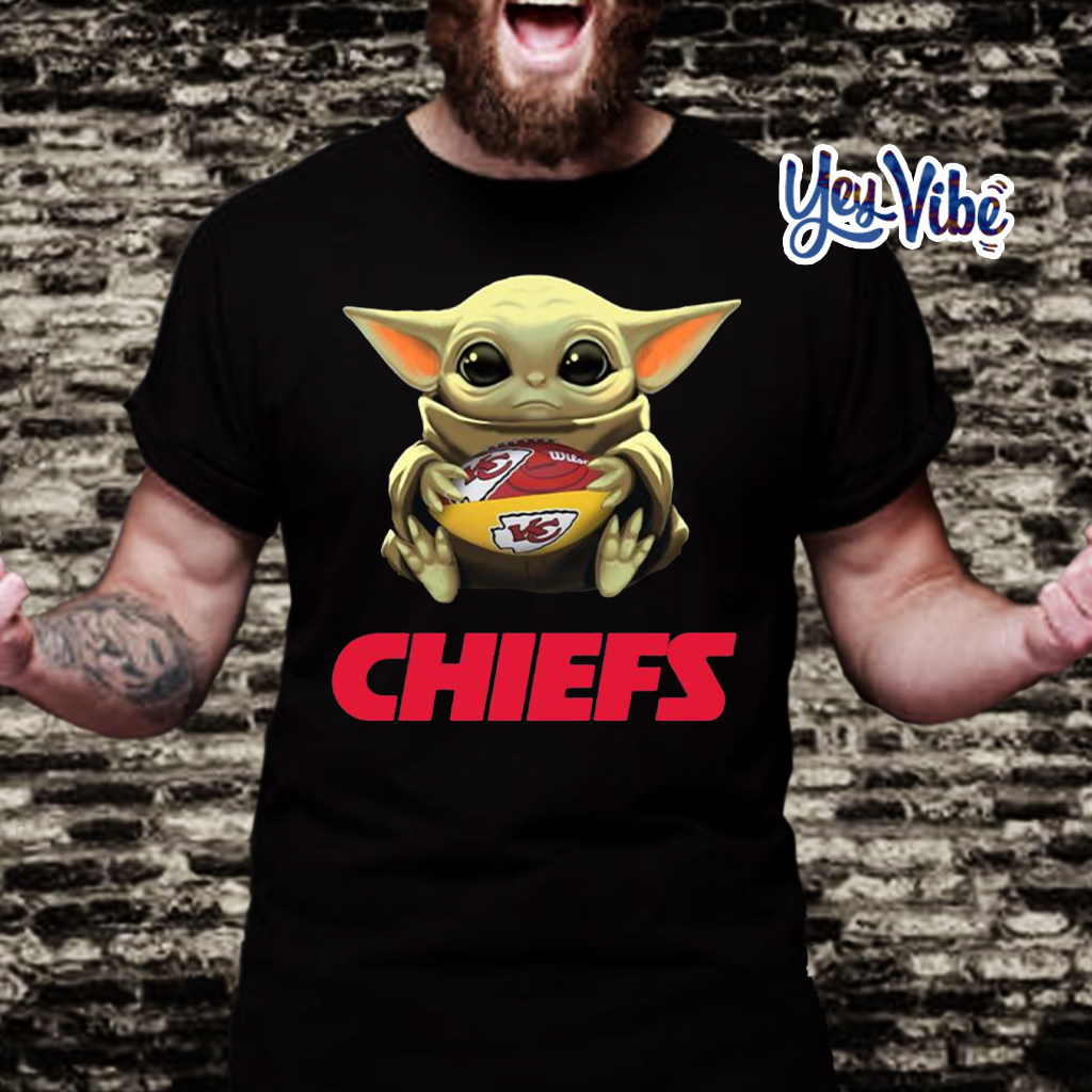 Baby Yoda Hug Kansas City Chiefs T Shirt Hoodie Sweatshirt And Long Sleeve