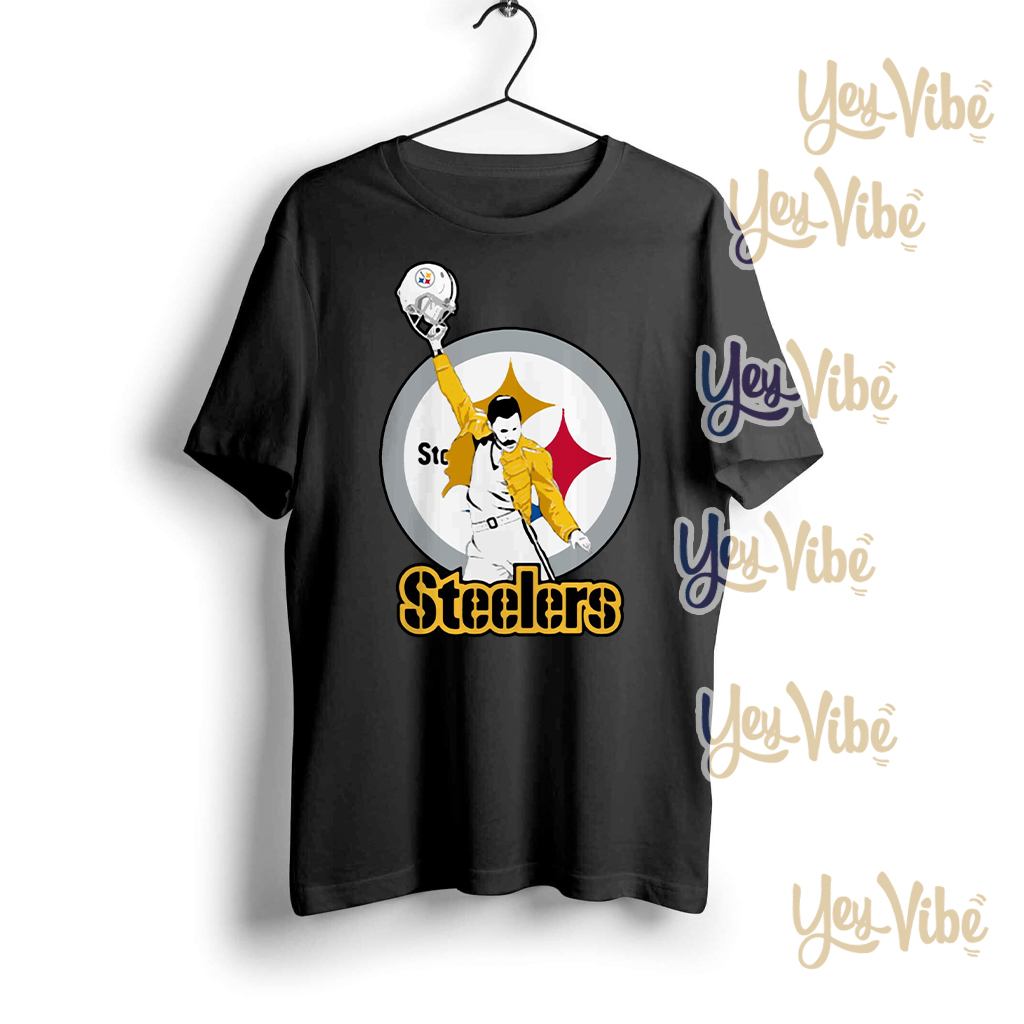 Freddie Mercury Pittsburgh Steelers t shirts