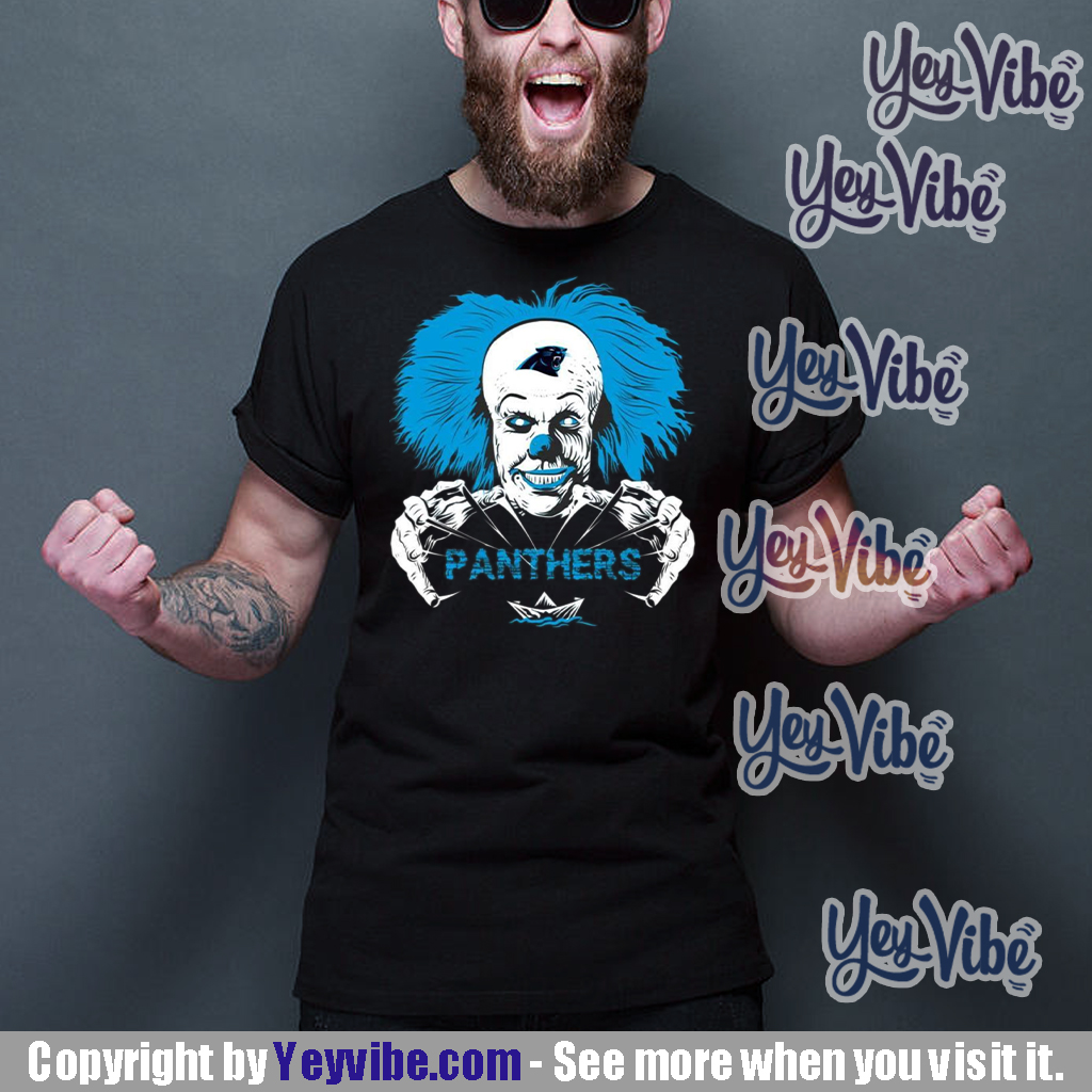 It Horror Movies Carolina Panthers T Shirt