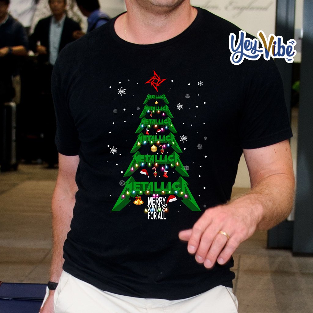 Metallica merry Xmas For All Christmas Tree T Shirt