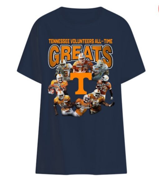 Tennessee Volunteers all time greats players signatures t shirts