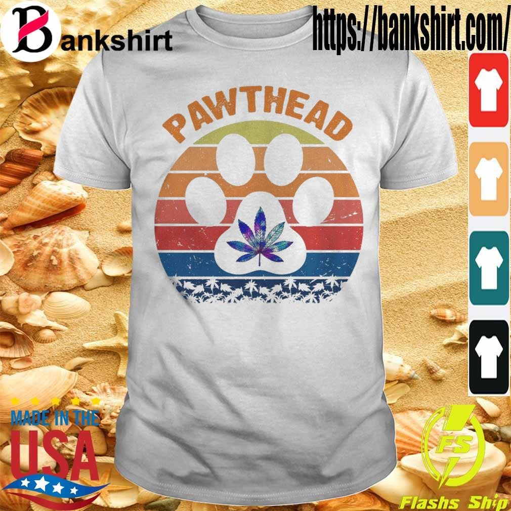 Marijuana Pawthead dog vintage shirt