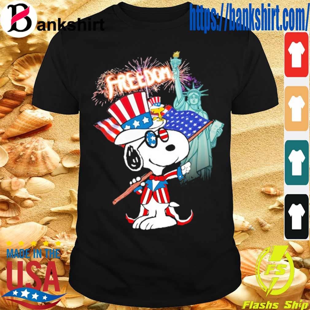 Snoopy Flag Day freedom shirt