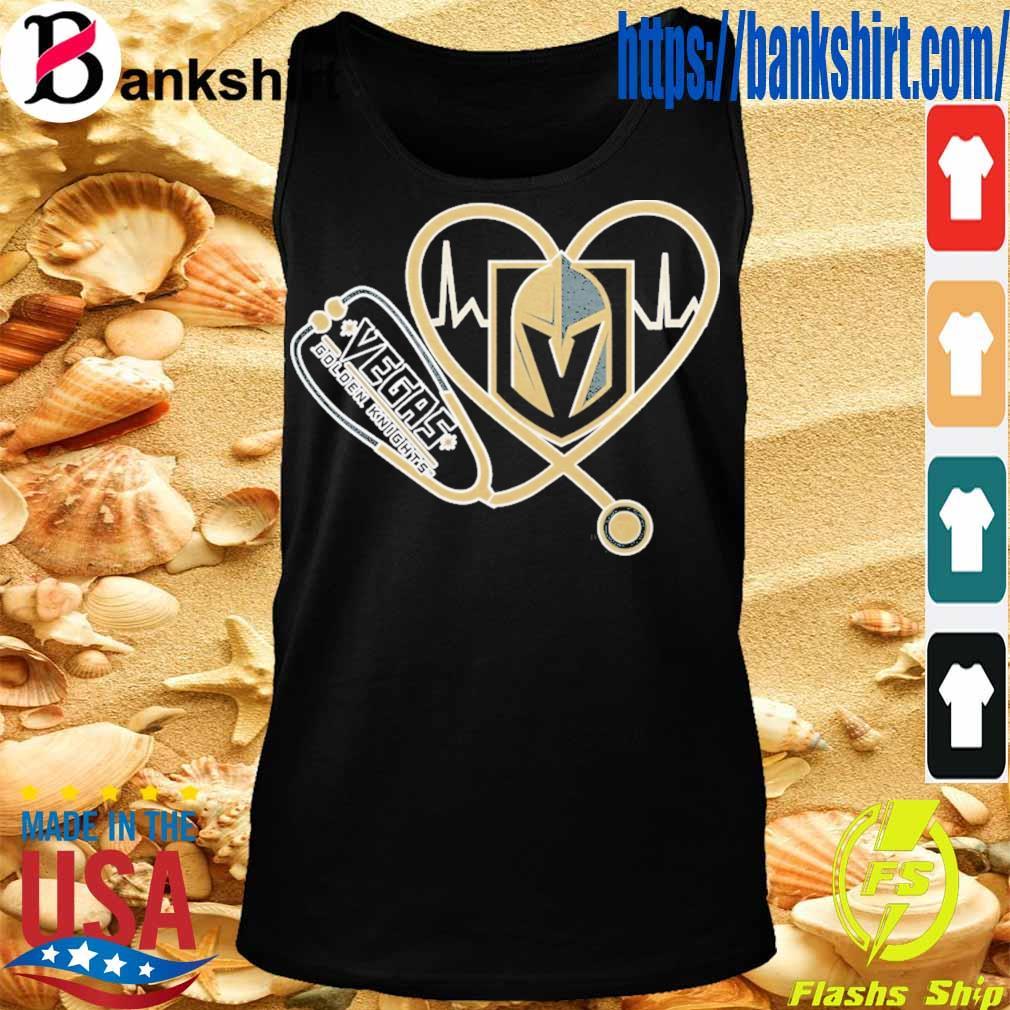 Vegas Golden Knights nurse stethoscope love heartbeat s TankTop