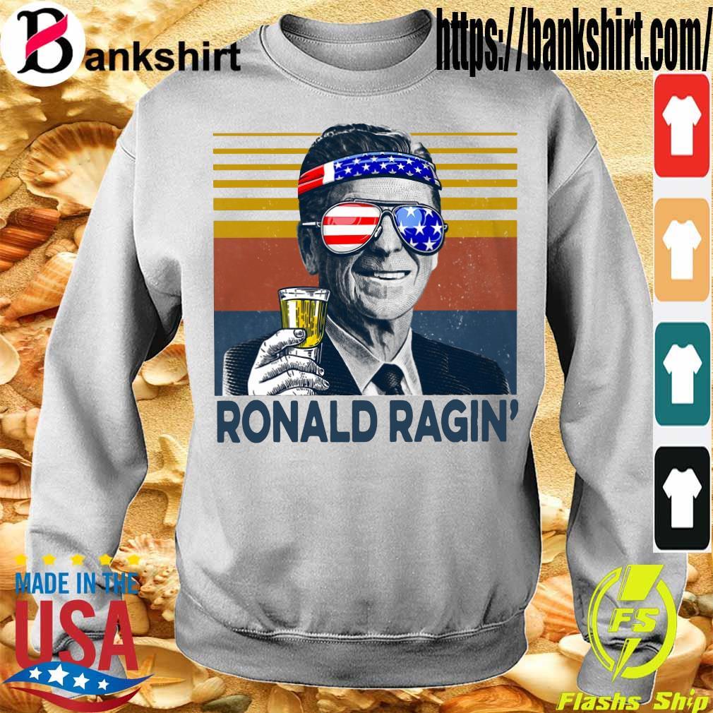 Ronald Ragin drink beer happy the 4th of july vintage s Sweatshirt