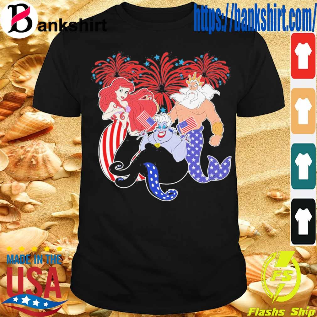 The Little Mermaid happy the 4th of July Merica shirt
