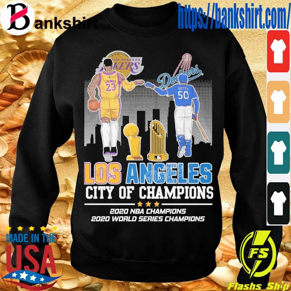 James 23 Betts 50 Los Angeles city of Champions 2020 NBA Champions 2020 world series Champions s Sweatshirt