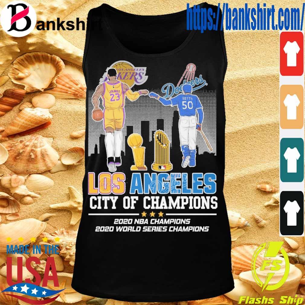 James 23 Betts 50 Los Angeles city of Champions 2020 NBA Champions 2020 world series Champions s TankTop