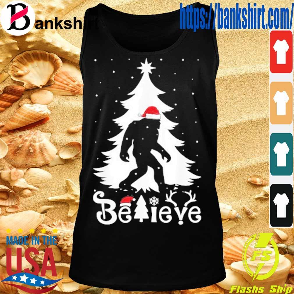 Santa Bigfoot believe Christmas s TankTop