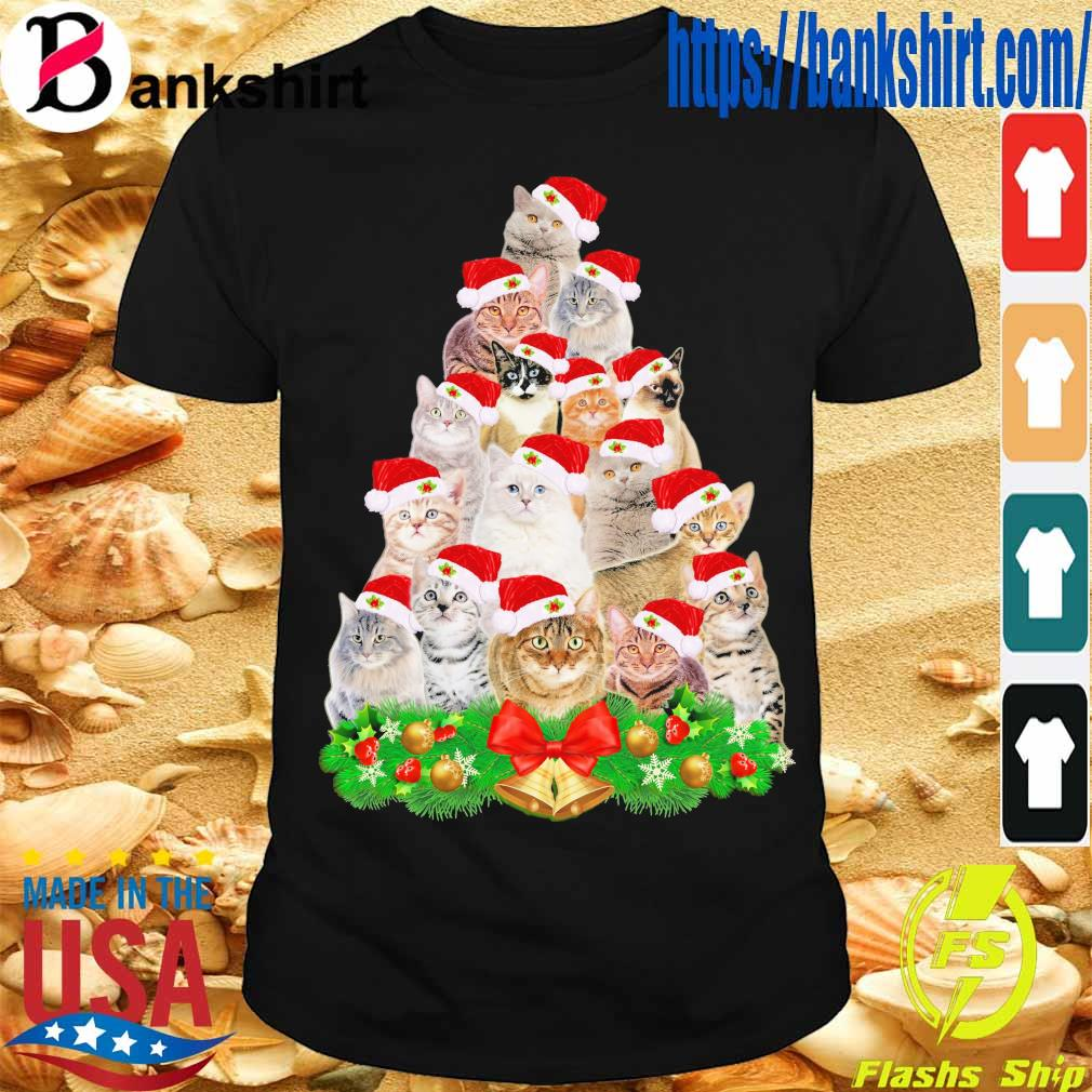 Santa Cats Christmas shirt