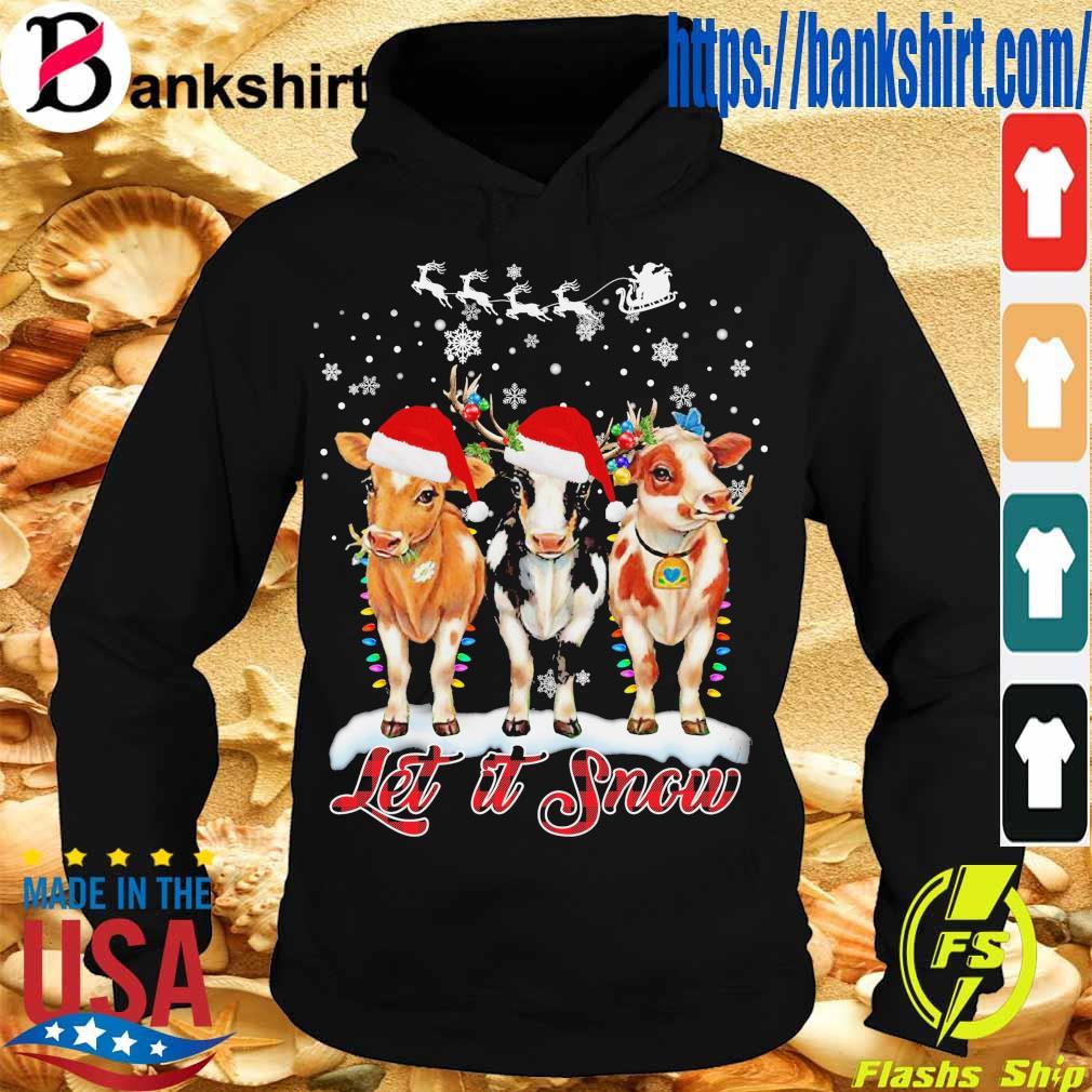 Santa Cows light let it snow Christmas s Hoodie