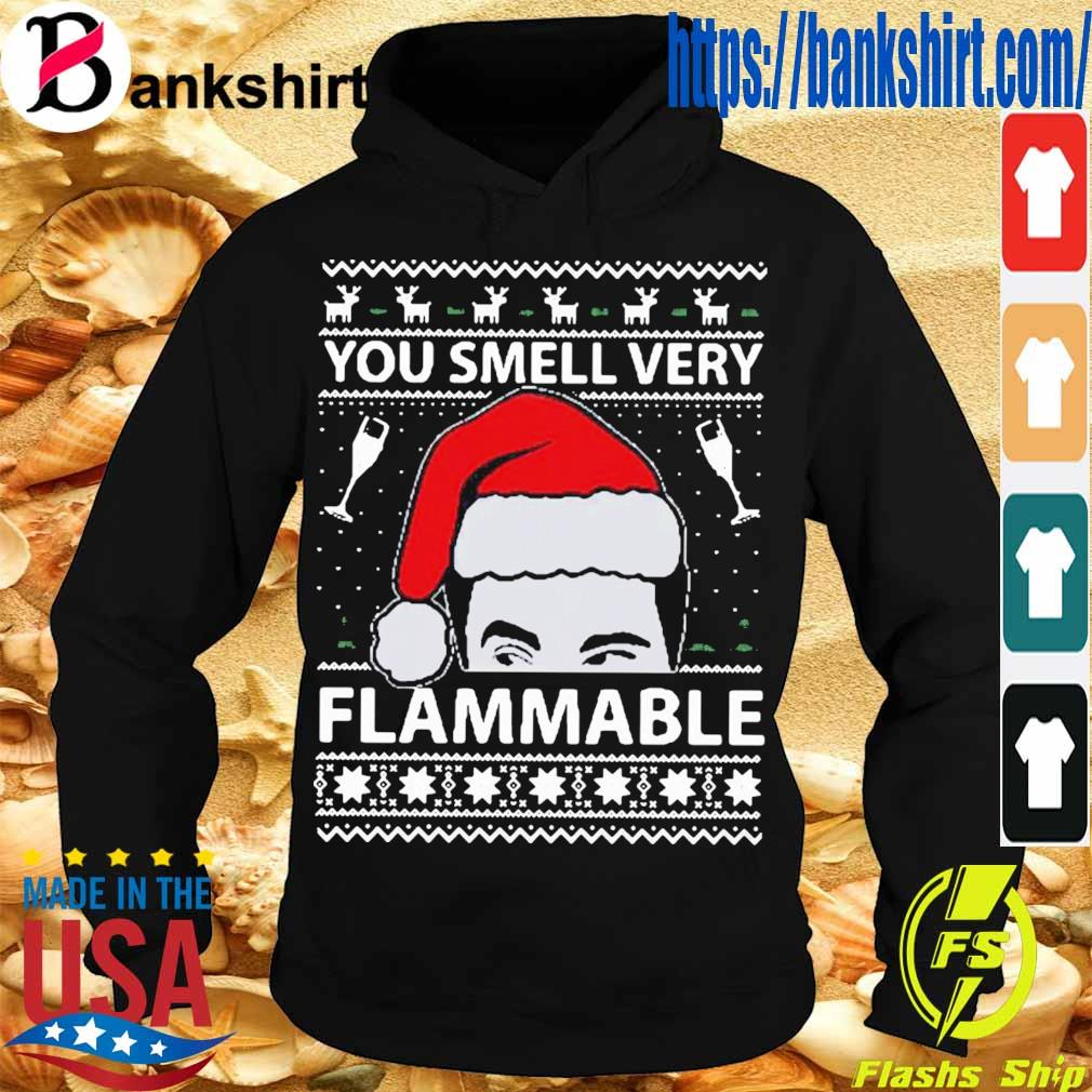 Official You Smell Very Flammable Schitt's Creek Ugly Christmas Shirt Hoodie