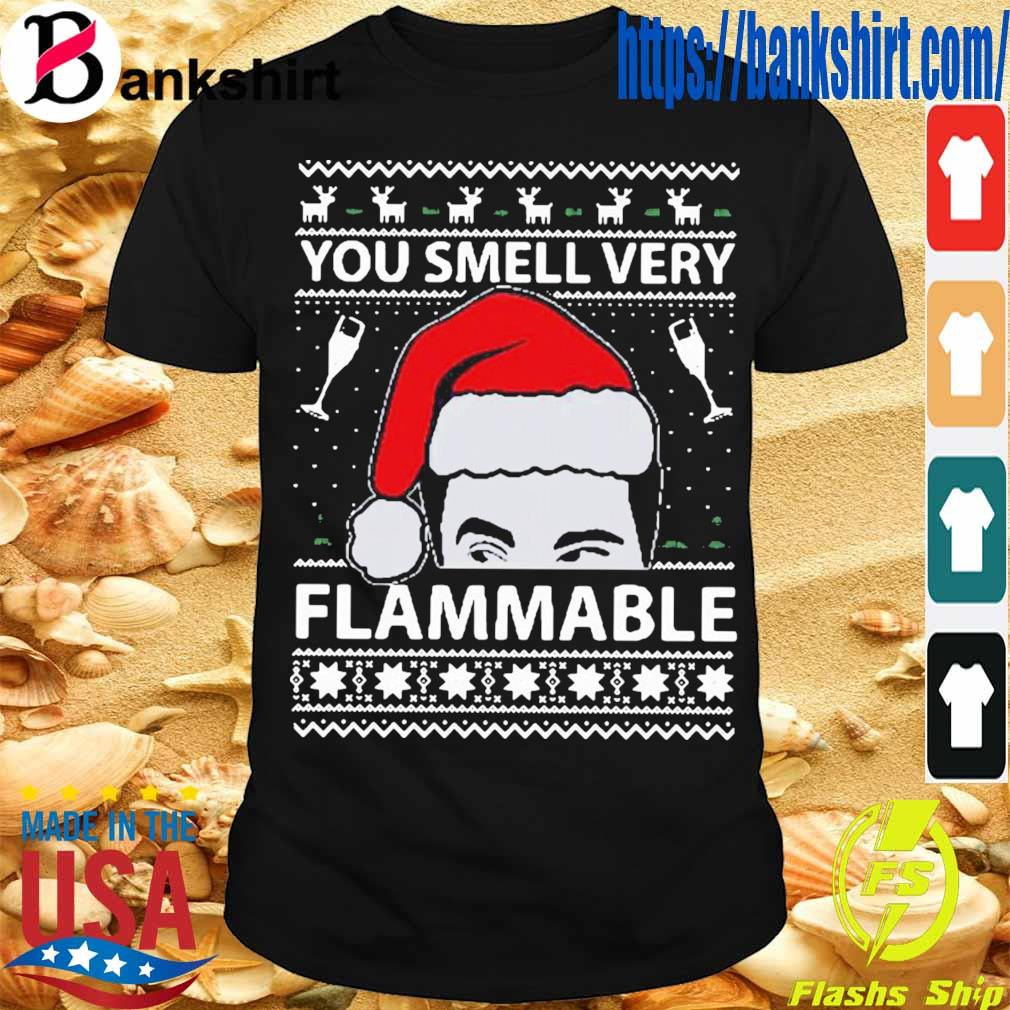 Official You Smell Very Flammable Schitt's Creek Ugly Christmas Shirt