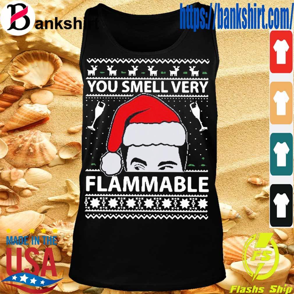 Official You Smell Very Flammable Schitt's Creek Ugly Christmas Shirt TankTop