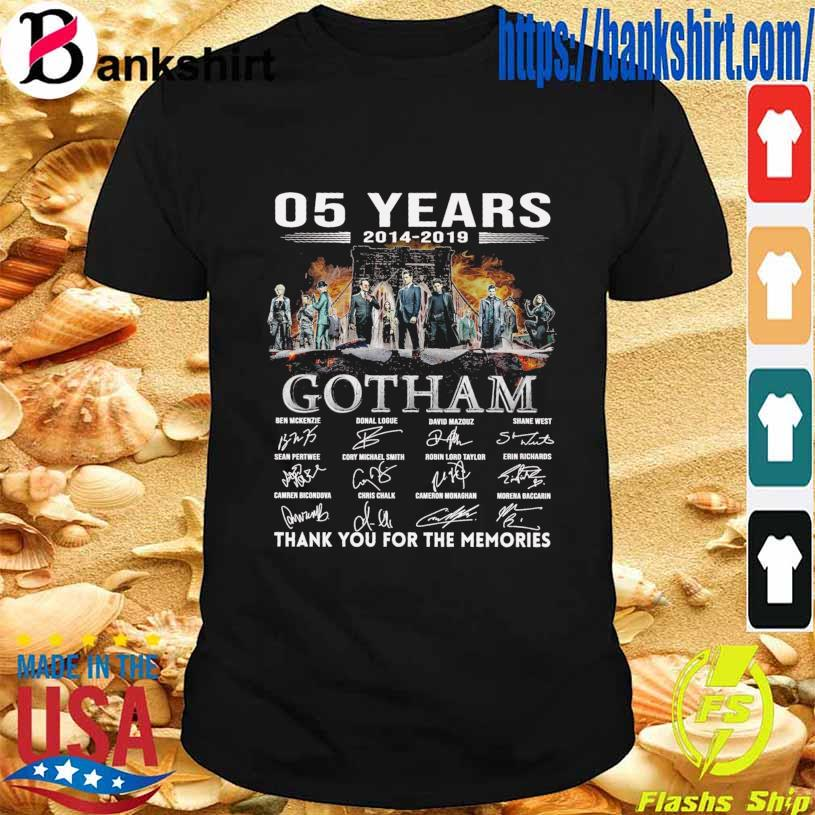 05 Years 2014 2019 Gotham Ben Mckenzie Donal Logue signatures shirt